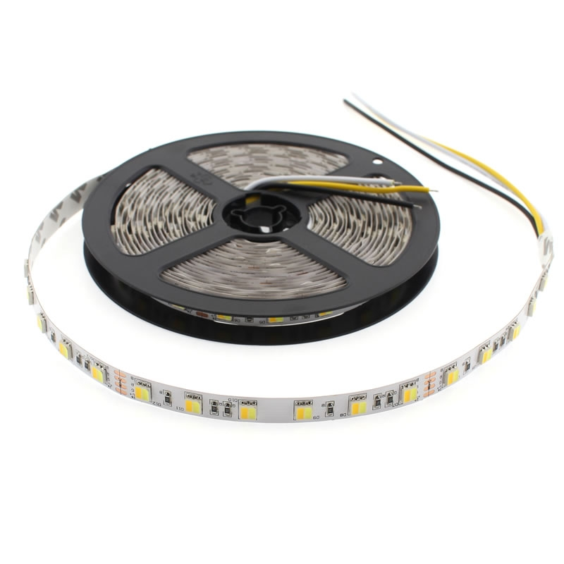 Tira LED Blanco Dual SMD5050, DC24V, 5m (120 Led/m) - IP65, Blanco dual